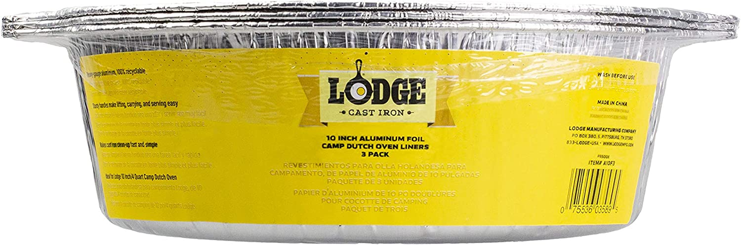 Lodge A10F3 Dutch Oven Liner, 10 inch, Silver