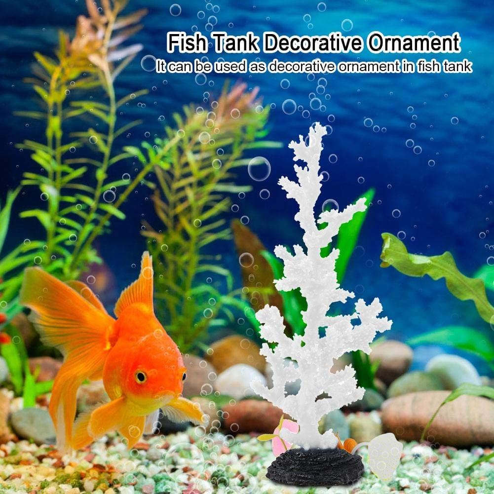 Coral Decor for Aquariums Emulation Silicone Coral Plant Decorations Glowing Artificial Tree Branch Shaped Ornament Marine Fish Tanks and Freshwater Fish Aquariums