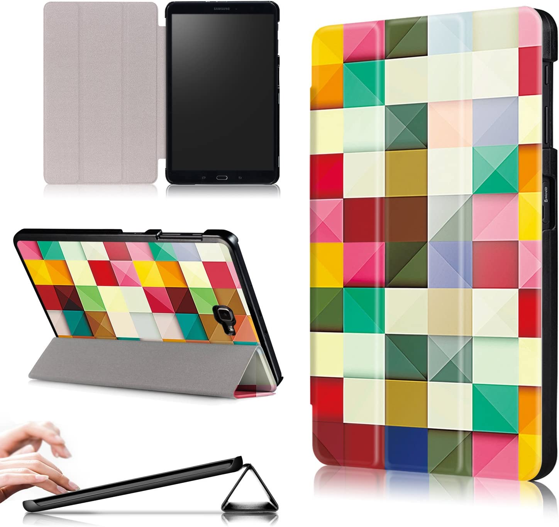 Xuanbeier Funda Ultra Delgado Compatible con Samsung Galaxy Tab A 10.1 SM-T580 T585, Cubo Colores
