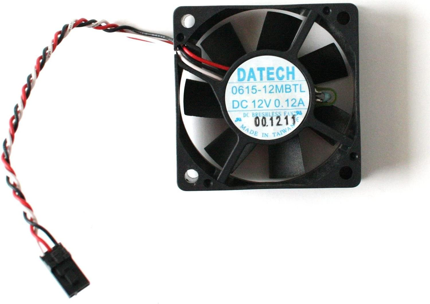 60x15mm DATECH 0615-12MBTL DC 12V 0.12A DC BRUSHLESS FAN 3-WIRE