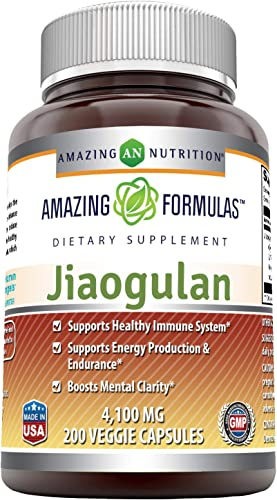 Amazing Formulas Jiaogulan 4100mg Veggie Capsules Non-GMO -Supports Healthy Immune System* -Support Energy Production Endurance* -Boosts Mental Clarity* 200 Count