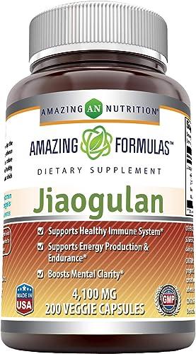 Amazing Formulas Jiaogulan 4100mg Veggie Capsules Non-GMO