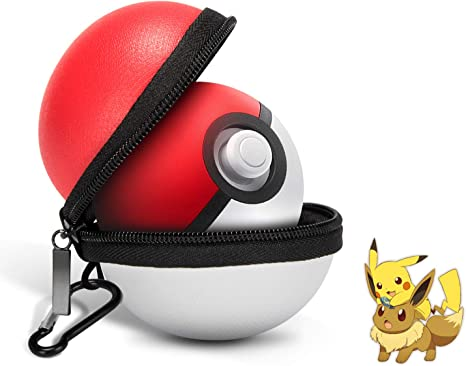 Estuche portátil para control de Nintendo Switch Poke Ball Plus, estuche Pokeball Plus para Pokemon Lets Go Pikachu/Eevee Game (blanco y rojo): Amazon.es: Videojuegos