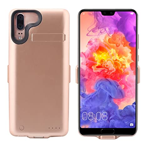 Banath Huawei P20 6000mAh Funda Bateria, Carcasa Bateria Funda Recargable Batería Externa Cargador Portátil Backup Power Bank para Huawei P20 (Dorado)