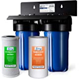 "iSpring WGB21B 2-Stage Whole House Water Filtration System with 10"" x 4.5"" Big Blue Sediment CTO(Chlorine, Taste, and…"