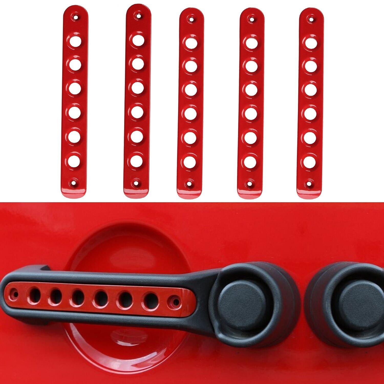 Santu sd59 pinlang Aluminum Grab Handle Pull Inserts Cover For Jeep Wrangler 2007-2017 JK//Unlimited 4 door, Red
