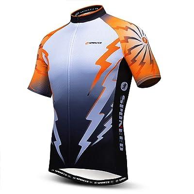 Long Sleeve Mens Cycling Jerseys Tops Full Zipper Bike Tights Cyclism Bicycle