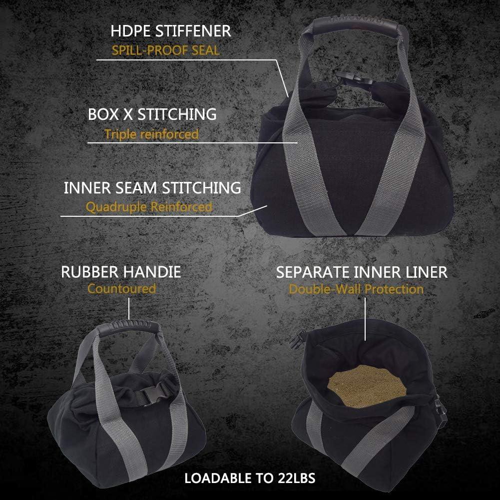 Without Filler Ajustable Ergonomic Weight Exercise Sandbag Angmile 5-10kg Capacity Kettlebell Sandbags