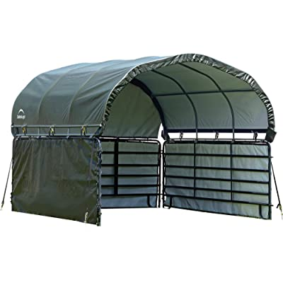 ShelterLogic 51483 10' x 10' Corral Shelter Enclosure Kit, Green : Garden & Outdoor