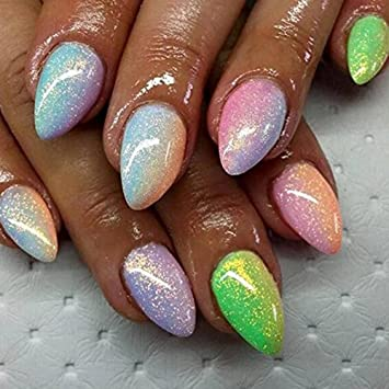 Amazon Mermaid Effect Powder Nail Glitter Dust Dust Magic
