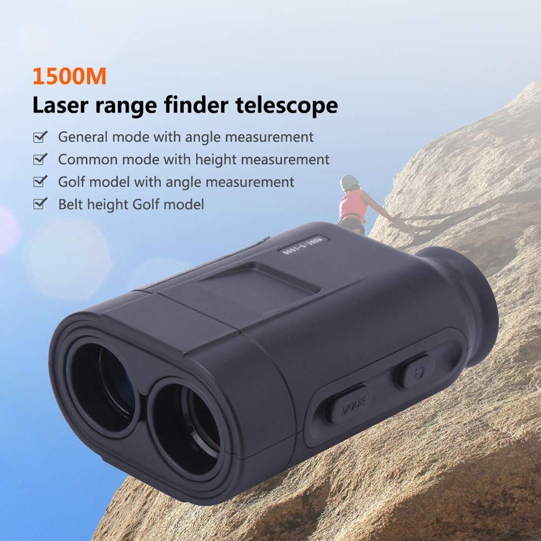 Claymore Laser Rangefinder - Range : 5-1600 Yards, 1 Yard Accuracy, Golf Rangefinder with Height, Angle, Horizontal Distance Measurement Perfect for Hunting, Golf, Engineering Survey by Claymore
