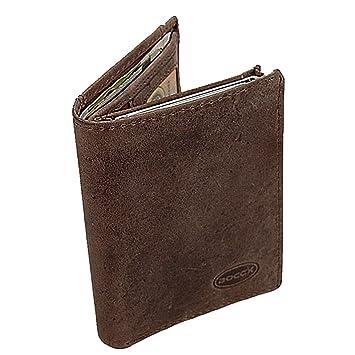 80a2fdcfdb07f BOCCX Herren Geldbeutel Geldbörse Leder Herrenbörse mit Aluminium RFID  Kartenschutz 40032 GoBago (Braun)