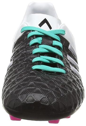 newest 35886 c728e adidas Ace 15.4 FxG J, Botas de fútbol Unisex niños, NegroPlateadoBlanco  (NegbasPlamatMenimp), 35 12 EU Amazon.es Zapatos y complementos