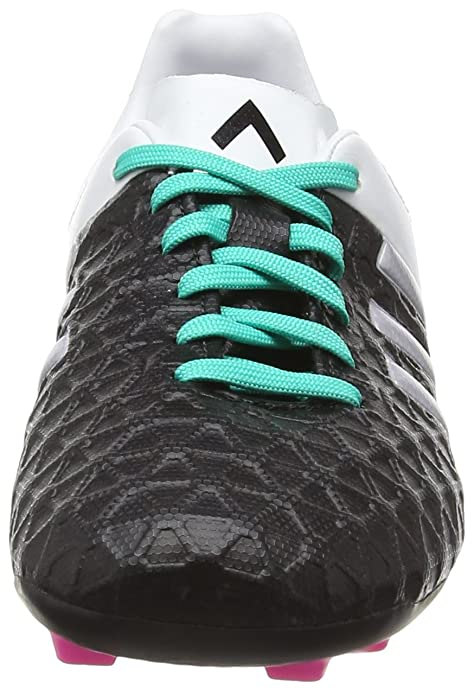 adidas Unisex-Kinder Ace 15.4 Fxg Fußballschuhe, Schwarz (Core Black/Matte Silver/Shock Mint S16), 36 EU