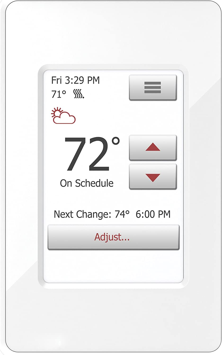 WarmlyYours UDG4-4999 nSpire Touch Programmable Thermostat, with Floor Sensor, Class A GFCI, (White)