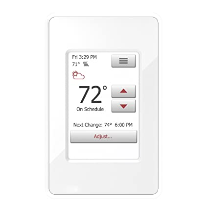 WarmlyYours UDG4-4999 nSpire Touch Programmable Thermostat, with Floor Sensor, Class A GFCI