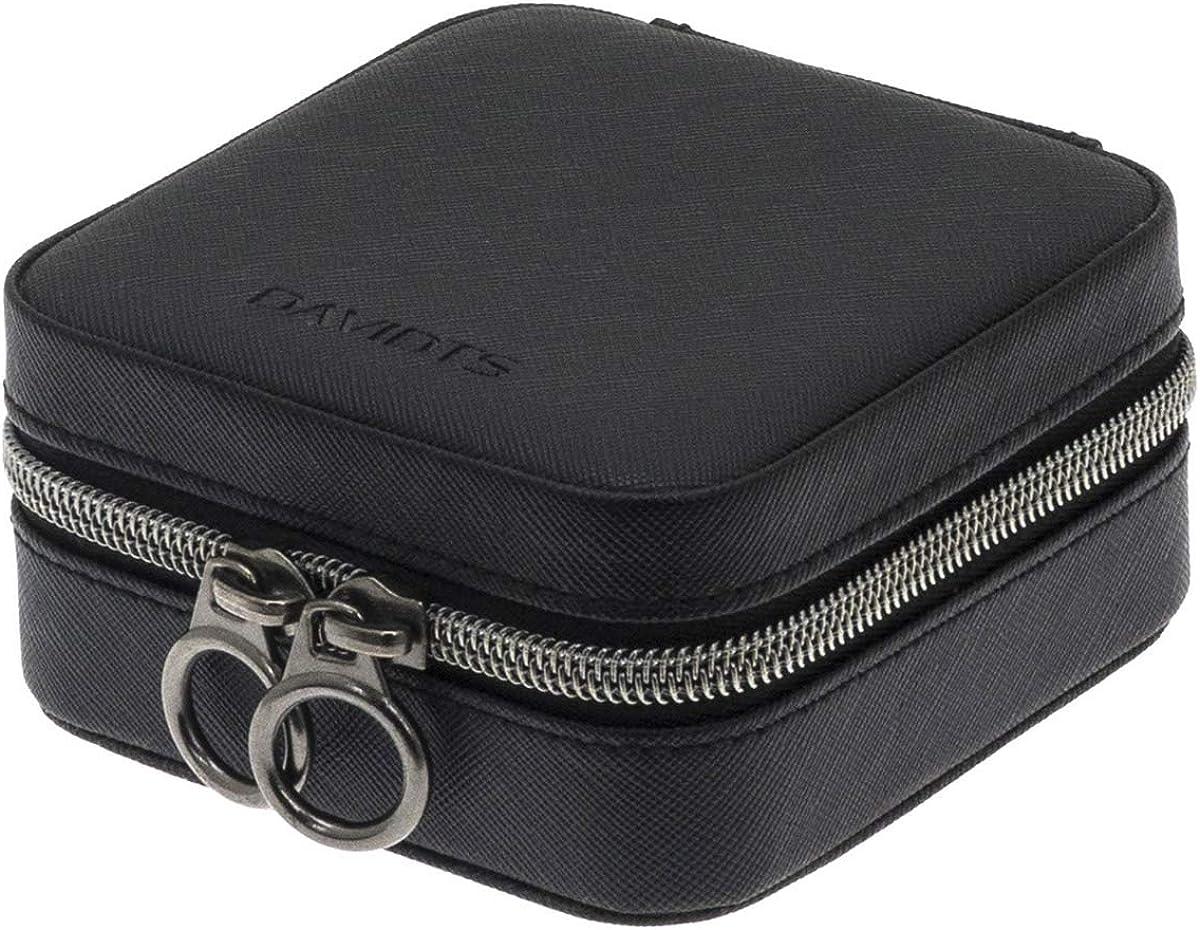 Q9144 - Coffret /à Bijoux zipp/é Zipn go Noir - 10.5x10.5x5 cm Davidts