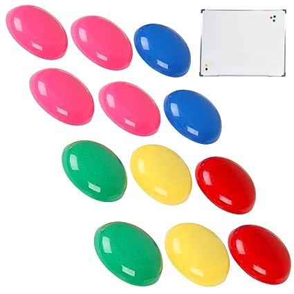 Jago Juego de imanes magnéticos (botones magnéticos) para pizarra - 12 unidades