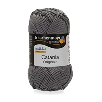 Schachenmayr Catania 9801210 00435 rauchgra Handstrickgarn, Häkelgarn, Baumwolle
