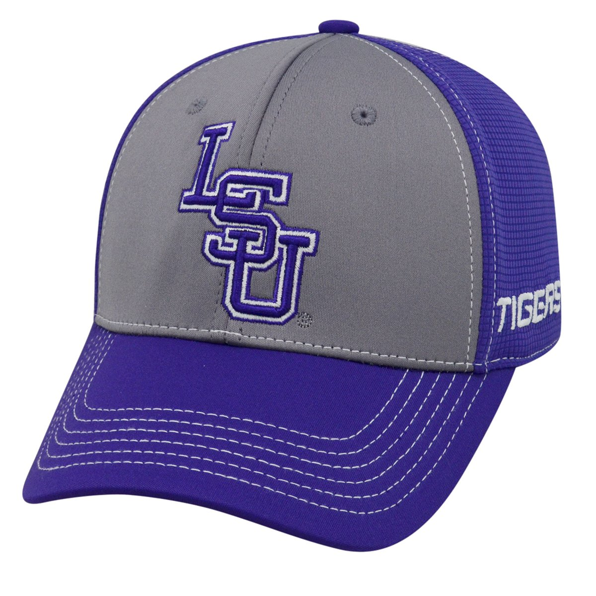 new styles 10aa8 b48db ... italy amazon lsu tigers ncaa tow dynamic memory fit performance mesh hat  clothing e7011 90fe0