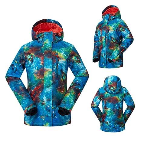Hzjundasi Mujeres Invierno Exterior Senderismo Abrigos Sudaderas Traje de esquí Impermeable Snowboard Chaquetas Ejercicio