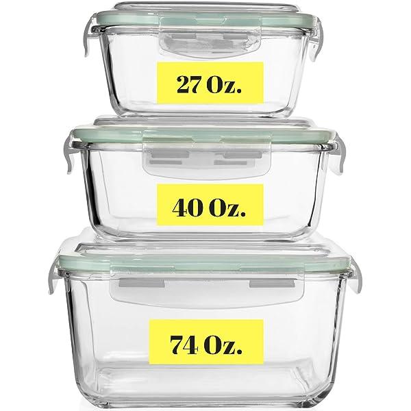 Amazon.com: Juego de 20 recipientes de almacenamiento de ...