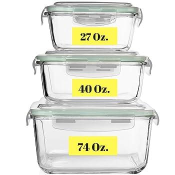 Razab HomeGoods Extra Large Glass Containers Freezer