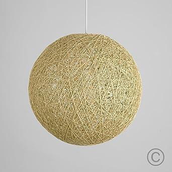 MiniSun Abat Jour Moderne pour Suspension. Ballon de 30 cm en Osier ...