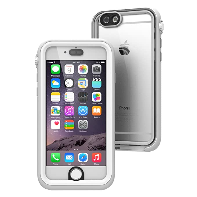 timeless design d1b87 7e11d iPhone 6 Waterproof Case, Shock Proof, Drop Proof by Catalyst for Apple  iPhone 6 with High Touch Sensitivity ID (White & Mist Gray)