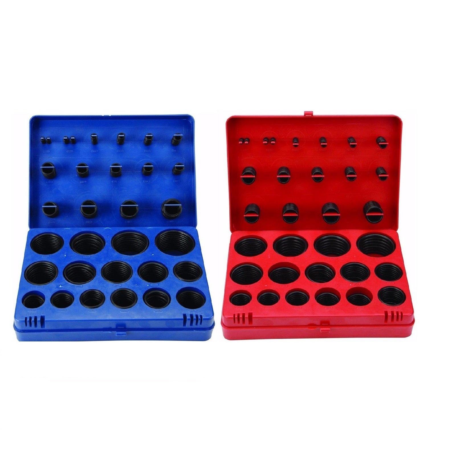 SAE Metric Rubber O-Ring Washer Assortment Kit Automotive Storage Case ORing Set