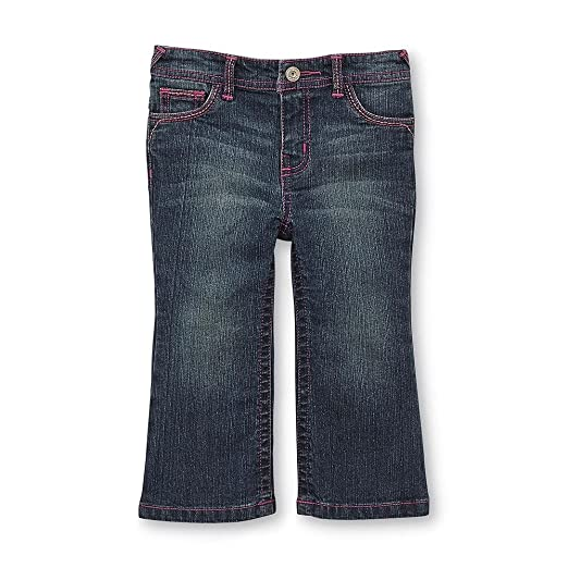9537c9663 Image Unavailable. Image not available for. Color: WonderKids Infant & Toddler  Girl's Flared Jeans ...