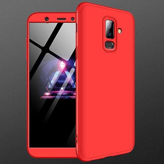 designer fashion ddf43 d5ef4 Amazon.com: Galaxy A6 Plus 2018 Case,MYLBOO [3 in 1 360 Degrees Full ...
