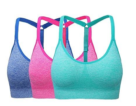 9790b616da2bb Women s Low-Impact Activity Sports Bra Comfort Workout Yoga Bras L Pack of 3