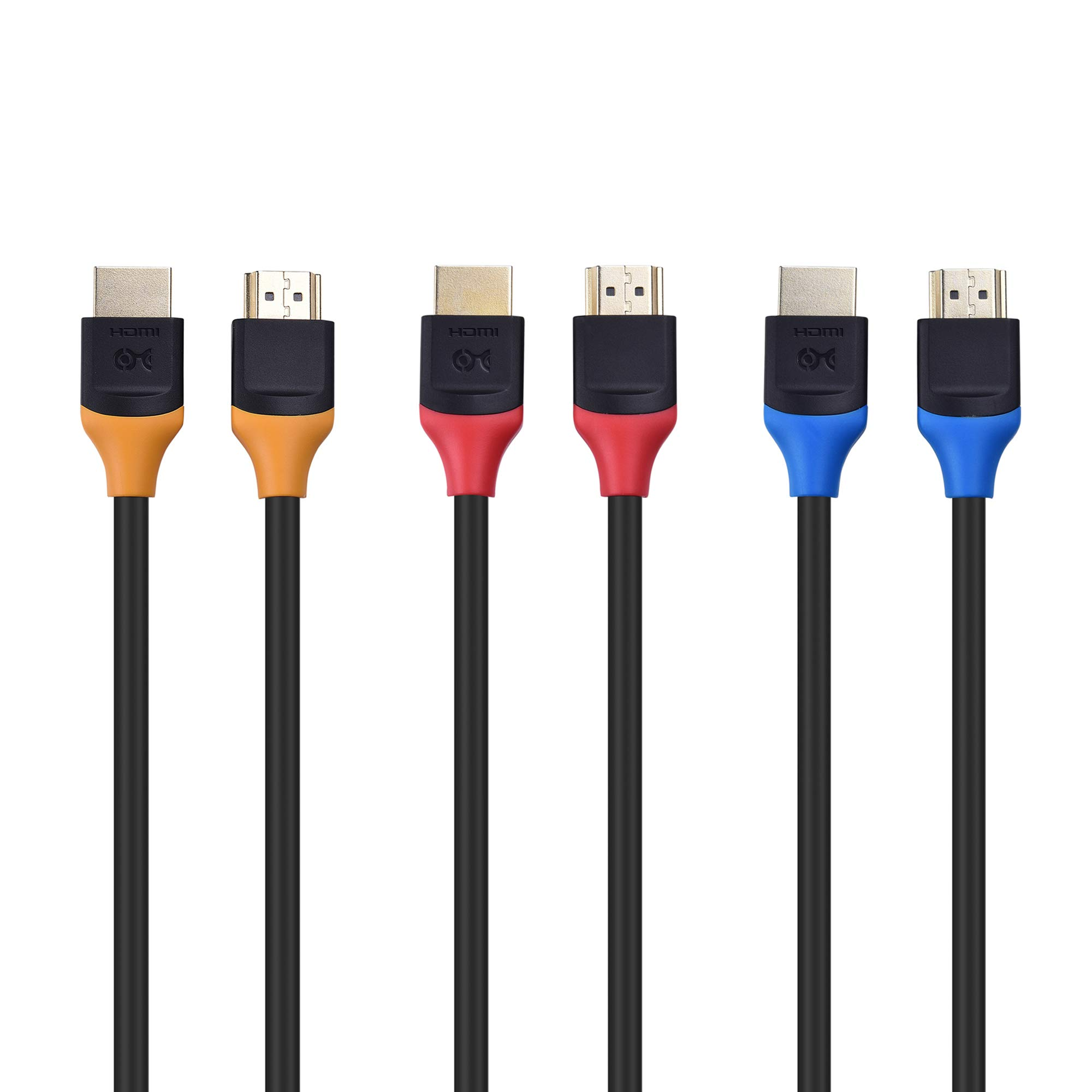 Cable Matters 3-Pack High Speed HDMI to HDMI Cable 10 Feet with HDR and 4K Resolution Support by Cable Matters