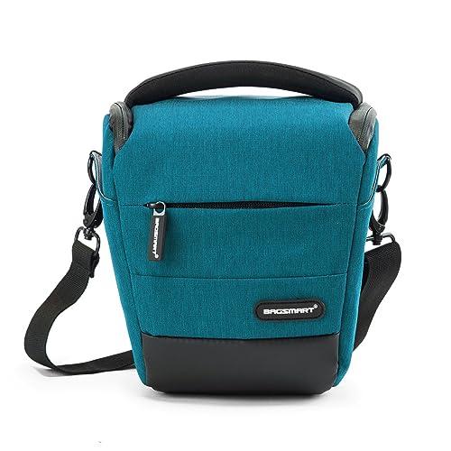 BAGSMART Compact DSLR Camera Bag Shockproof Case Travel Padded Box Shoulder Bag for Canon, Nikon, Olympus, Pentax, Sony, Samsung Digital Cameras (Lake Blue)