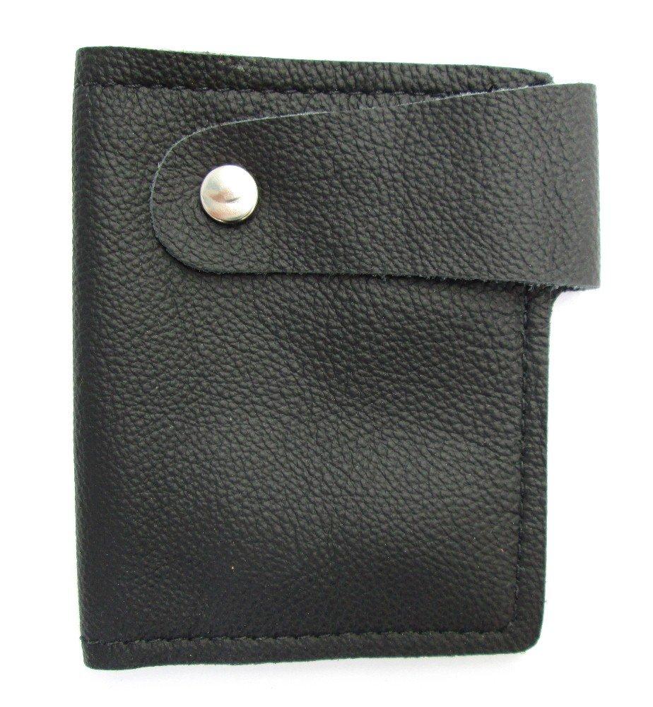 Mens Ladies Black Leather Secret Bifold Boot Wallet New