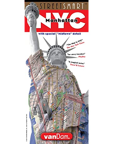 StreetSmart NYC Midtown Manhattan Map by VanDam -- Laminated pocket sized city street Map with
