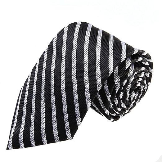 Neckchiefs Corbata de Rayas de Corbata de Raya Negra y Blanca con ...