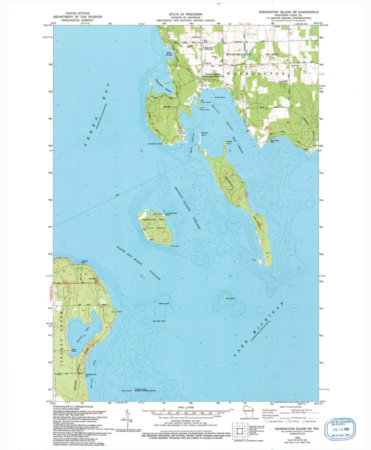 Amazon.com : YellowMaps Washington Island SW WI topo map, 1 ... on map of dearborn, map of neighborhoods in detroit, map of lincoln park, map of brownstown, map of romulus, map of west detroit, map of river rouge, map of se detroit, map of westland,