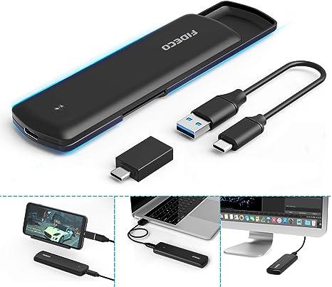 FIDECO M.2 NVME SSD Enclosure - PCIe USB 3.1, Gen 2, 10Gbps ...
