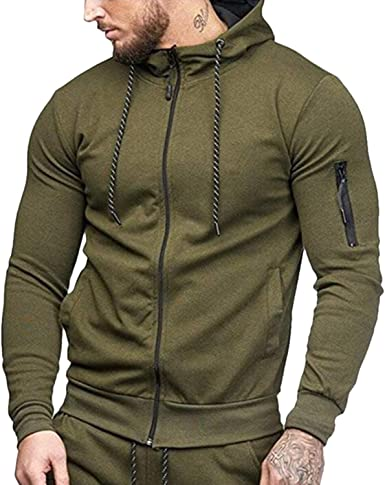 Katesid Men/'s Casual Pullover Hooded Athletic Slim Fitted Sweatshirt Blouse