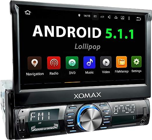 Xomax Xm Vrsua739 Android 5 1 Autoradio Mit Gps Navigation Bluetooth I 7 Zoll 18 Cm Touchscreen I Usb Sd I Anschluss Für Rückfahrkamera Lenkradfernbedienung I 1 Din Navigation
