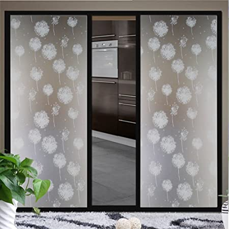 FLORATA Waterproof Window Film Frosted Privacy Contact Paper Decorative  Home Bathroom Bathroom Window Glass Self Adhesive