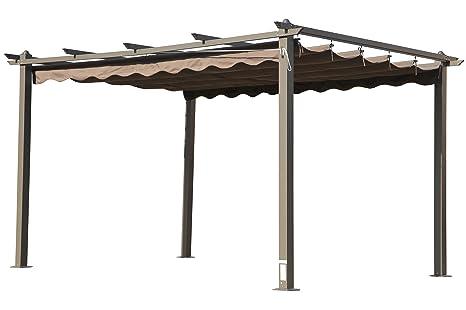 Gentil Amazon.de: OUTFLEXX Pergola, Gartenpergola In Anthrazit, Garten Pavillon  Aus Aluminium Alu, Hochwertige Garten Laube, Ca. 400x300x220 Cm