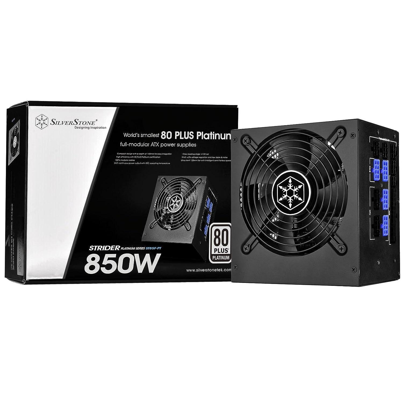Alimentatore serie Strider Platinum 100/% modulare SilverStone SST-ST85F-PT 850W 80 Plus Platinum ATX PC Power Supply 120mm
