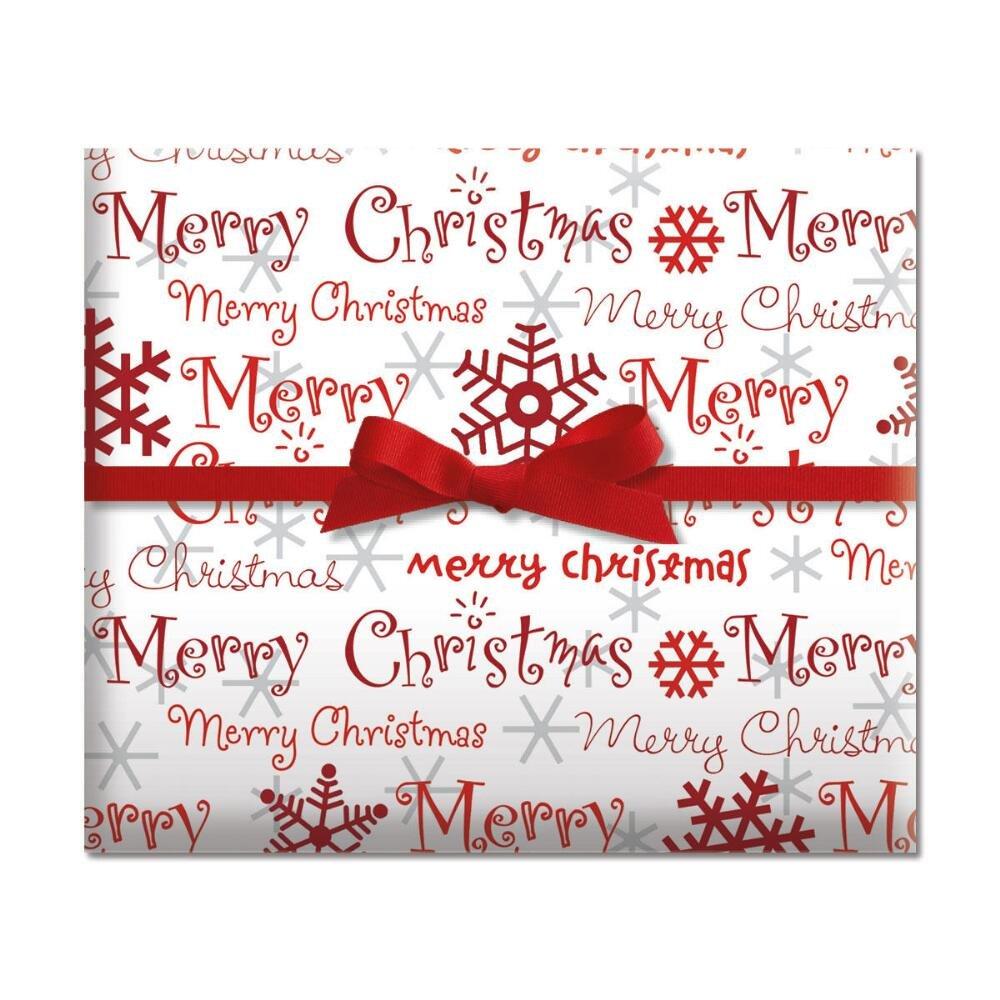 Amazon.com: Jumbo Christmas Gift Tag Stickers 60 Count Modern Red ...