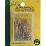 Dritz Quilting 3035 Crystal Glass Head Pins, 1-7/8-Inch, 100 Count