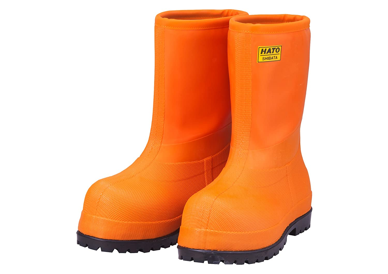 SHIBATA 冷蔵庫用長靴 -60℃ E型 中 FB061M-3321 【7606061 B017CW6M96 中(26~26.5cm)|オレンジ オレンジ 中(26~26.5cm)