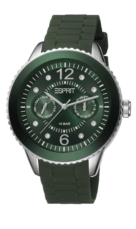 Analog Esprit Armbanduhr Es105332018 Damen Silikon Quarz 0knwOP