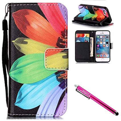 sale retailer d63de 8ade7 iPhone 5S Case, iPhone 5 Wallet Case, Firefish [Card Slots] [Kickstand]  Flip Folio Synthetic Leather Shell Scratch Resistant Protective Cover for  ...
